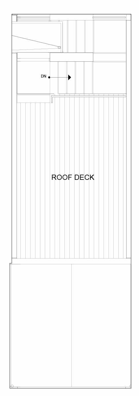 Roof Deck Floor Plan of 8549B Midvale Ave N, One of the Fattorini Flats Townhomes in Licton Springs by Isola Homes