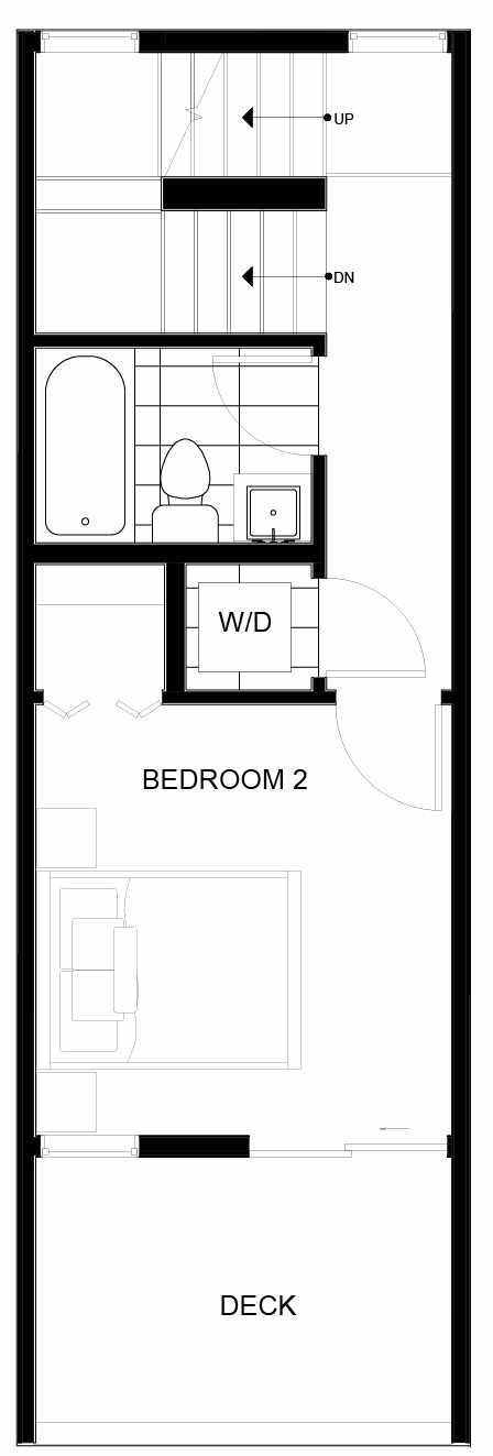 Third Floor Plan of 8549C Midvale Ave N, One of the Fattorini Flats Townhomes in Licton Springs by Isola Homes