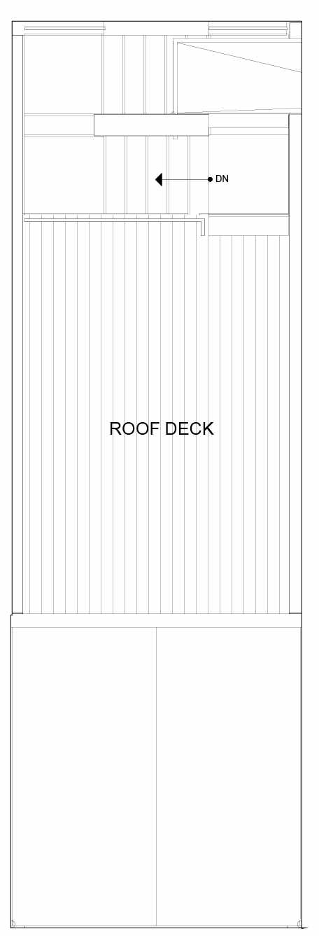Roof Deck Floor Plan of 8549C Midvale Ave N, One of the Fattorini Flats Townhomes in Licton Springs by Isola Homes