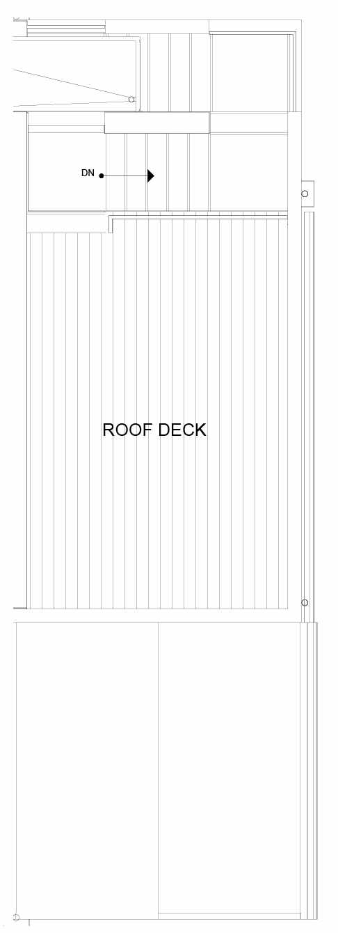 Roof Deck Floor Plan of 8549D Midvale Ave N, One of the Fattorini Flats Townhomes in Licton Springs by Isola Homes