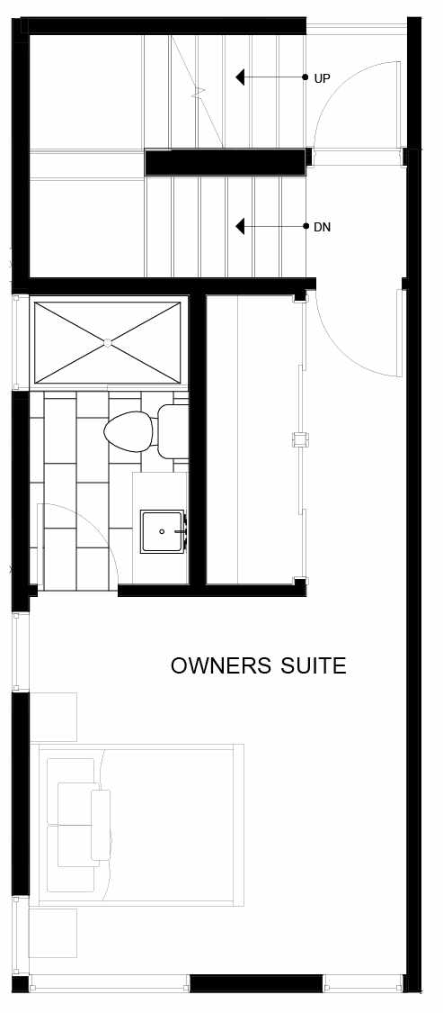 Fourth Floor Plan of 8551A Midvale Ave N, One of the Fattorini Flats North Homes, in Licton Springs by Isola Homes