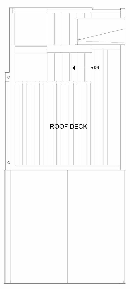 Roof Deck Floor Plan of 8551A Midvale Ave N, One of the Fattorini Flats North Homes, in Licton Springs by Isola Homes