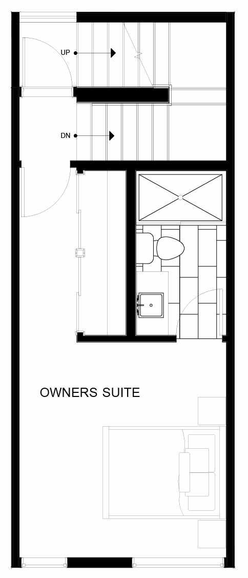 Fourth Floor Plan of 8551B Midvale Ave N, One of the Fattorini Flats North Homes, in Licton Springs by Isola Homes