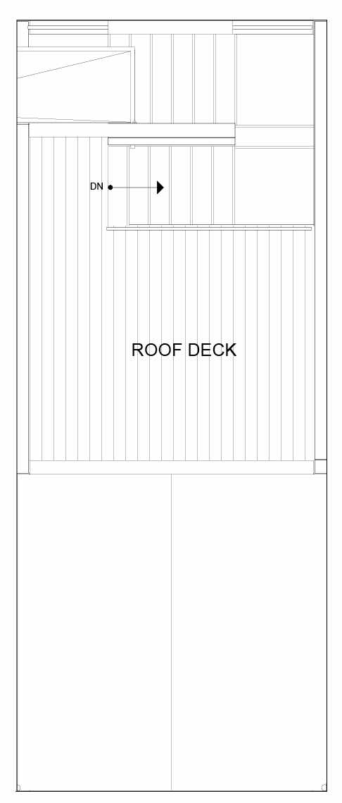 Roof Deck Floor Plan of 8551B Midvale Ave N, One of the Fattorini Flats North Homes, in Licton Springs by Isola Homes