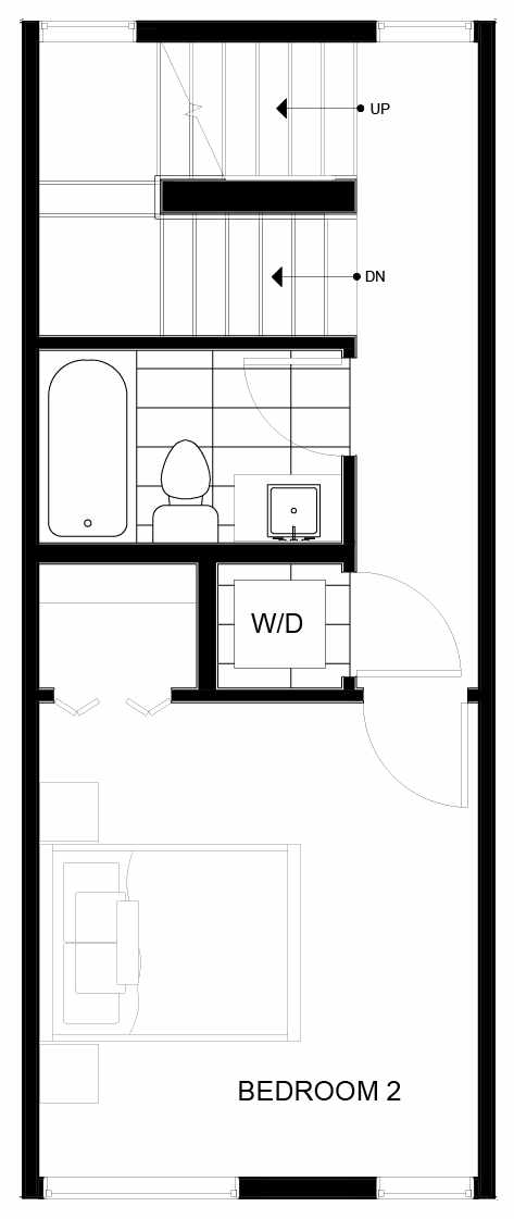 Third Floor Plan of 8551C Midvale Ave N, One of the Fattorini Flats North Homes, in Licton Springs by Isola Homes