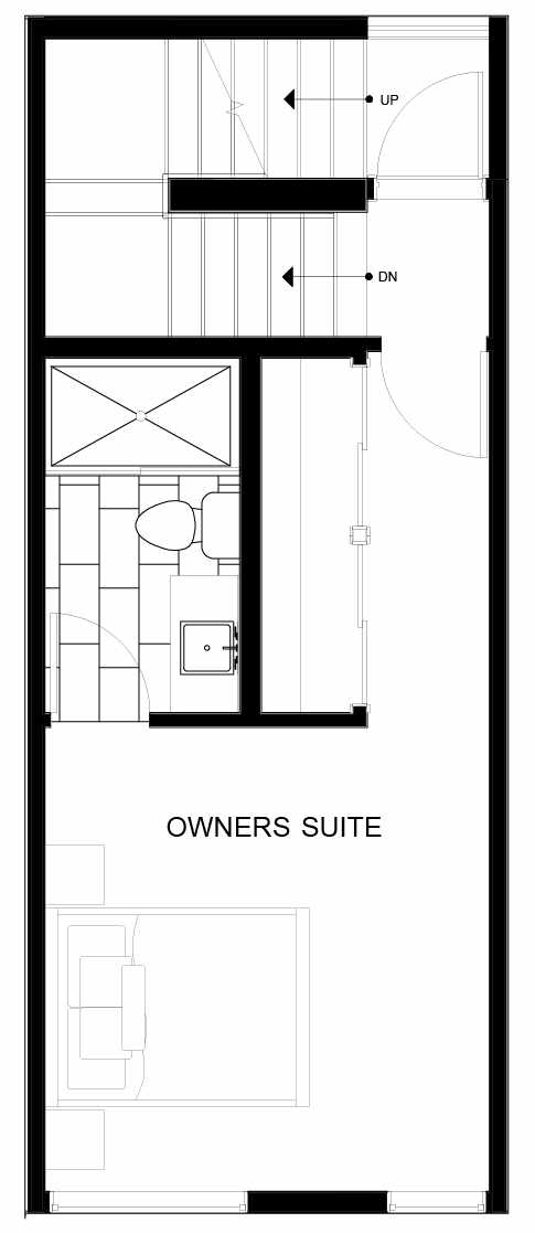 Fourth Floor Plan of 8551C Midvale Ave N, One of the Fattorini Flats North Homes, in Licton Springs by Isola Homes