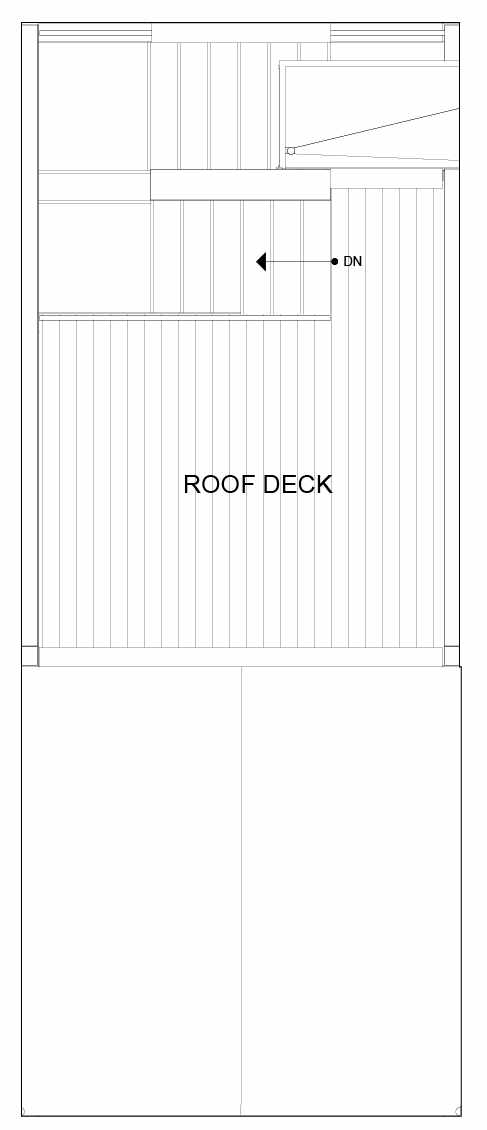Roof Deck Floor Plan of 8551C Midvale Ave N, One of the Fattorini Flats North Homes, in Licton Springs by Isola Homes