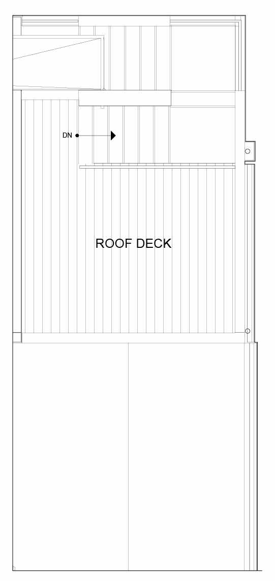 Roof Deck Floor Plan of 8551D Midvale Ave N, One of the Fattorini Flats North Homes, in Licton Springs by Isola Homes