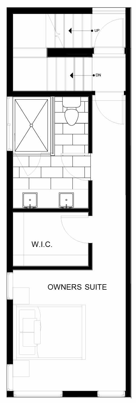 Fourth Floor Plan of 8553A Midvale Ave N, One of the Fattorini Flats North Homes, in Licton Springs by Isola Homes