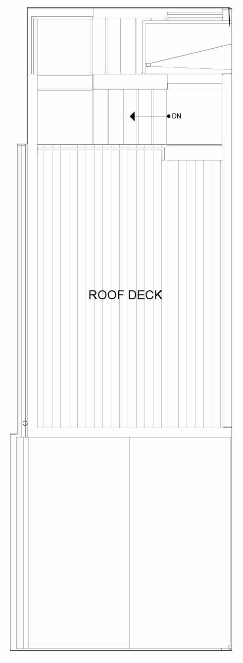 Roof Deck Floor Plan of 8553A Midvale Ave N, One of the Fattorini Flats North Homes, in Licton Springs by Isola Homes