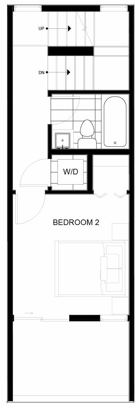 Third Floor Plan of 8553B Midvale Ave N, One of the Fattorini Flats North Homes, in Licton Springs by Isola Homes