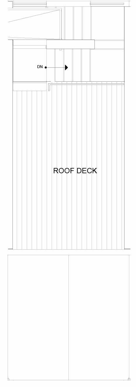 Roof Deck Floor Plan of 8553B Midvale Ave N, One of the Fattorini Flats North Homes, in Licton Springs by Isola Homes