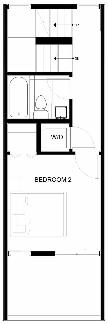 Third Floor Plan of 8553C Midvale Ave N, One of the Fattorini Flats North Homes, in Licton Springs by Isola Homes