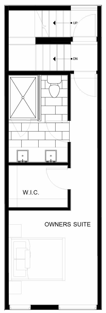 Fourth Floor Plan of 8553C Midvale Ave N, One of the Fattorini Flats North Homes, in Licton Springs by Isola Homes
