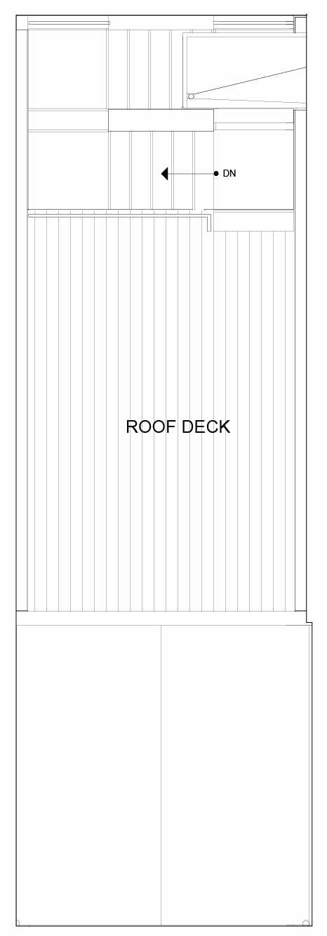 Roof Deck Floor Plan of 8553C Midvale Ave N, One of the Fattorini Flats North Homes, in Licton Springs by Isola Homes