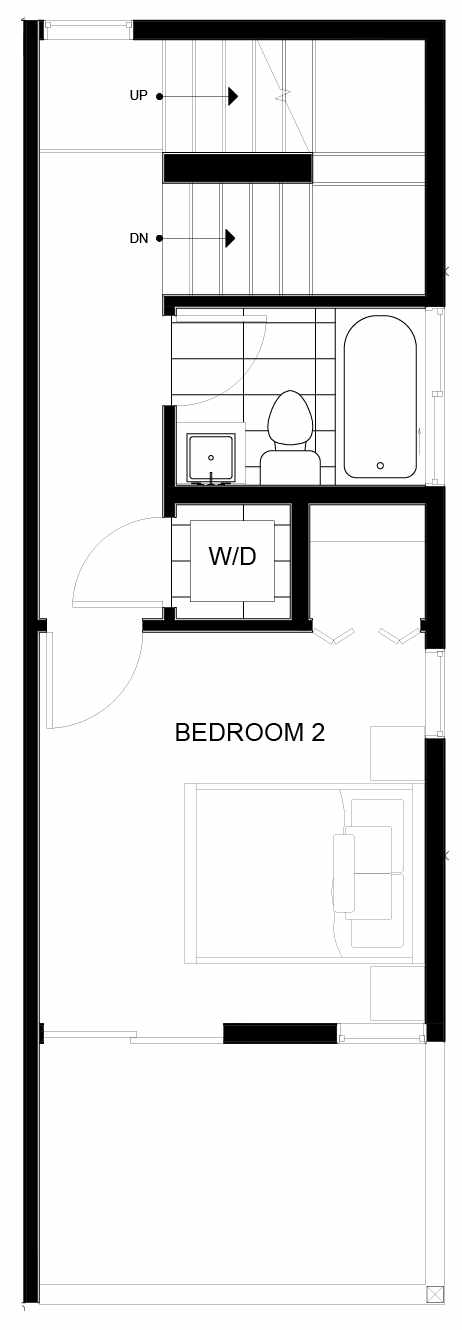 Third Floor Plan of 8553D Midvale Ave N, One of the Fattorini Flats North Homes, in Licton Springs by Isola Homes