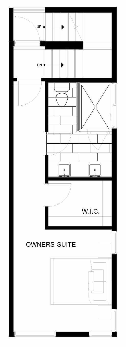 Fourth Floor Plan of 8553D Midvale Ave N, One of the Fattorini Flats North Homes, in Licton Springs by Isola Homes