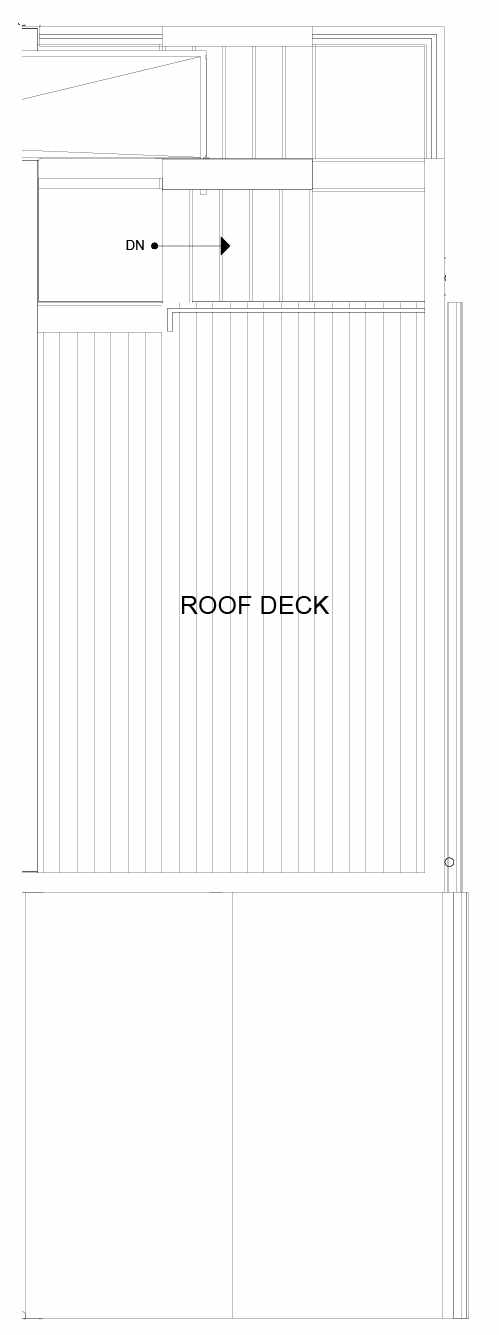 Roof Deck Floor Plan of 8553D Midvale Ave N, One of the Fattorini Flats North Homes, in Licton Springs by Isola Homes
