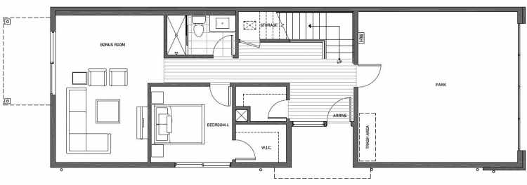 First Floor Plan of 8707A 116th Ave NE in Kirkland