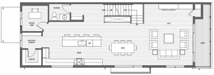 Second Floor Plan of 8707A 116th Ave NE in Kirkland