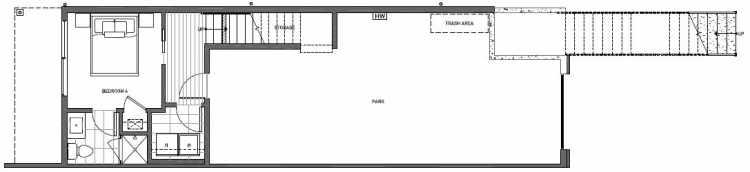 First Floor Plan of 8707B 116th Ave NE in Kirkland