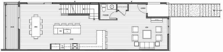 Second Floor Plan of 8707B 116th Ave NE in Kirkland