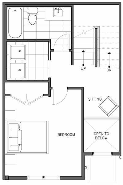 Second Floor Plan of the Nidaros Floor Plan at The Trondheim in Crown Hill