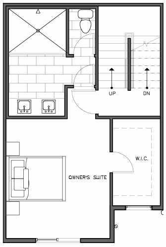 Third Floor Plan of the Nidaros Floor Plan at The Trondheim in Crown Hill