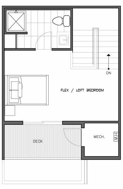 Fourth Floor Plan of the Nidaros Floor Plan at The Trondheim in Crown Hill