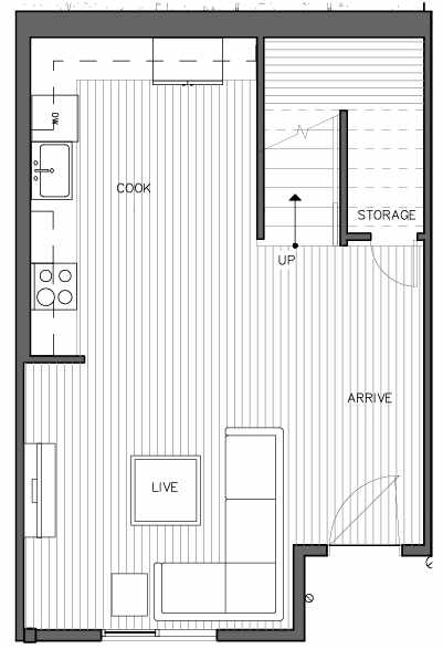 First Floor Plan of the Nidaros Floor Plan at The Trondheim in Crown Hill