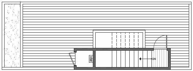 Roof Deck Floor Plan of 1638A 20th Avenue in Avani Townhomes Located in Capitol Hill Seattle