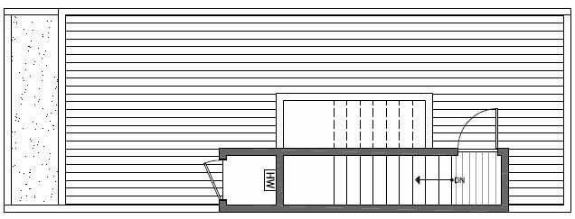 Roof Deck Floor Plan of 1638C 20th Avenue in Avani Townhomes Located in Capitol Hill Seattle