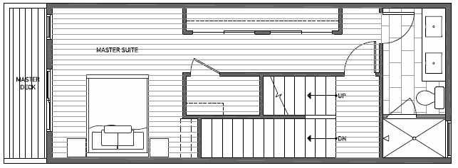 Third Floor Plan of 1638C 20th Avenue in Avani Townhomes Located in Capitol Hill Seattle
