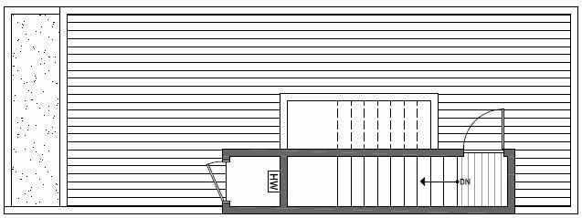 Roof Deck Floor Plan of 1638E 20th Avenue in Avani Townhomes Located in Capitol Hill Seattle