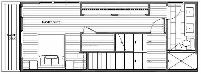 Third Floor Plan of 1638E 20th Avenue in Avani Townhomes Located in Central District Seattle