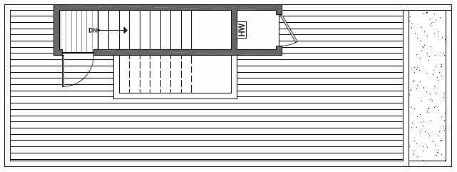 Roof Deck Floor Plan of 1640A 20th Avenue in Avani Townhomes Located in Capitol Hill Seattle