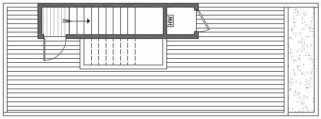 Roof Deck Floor Plan of 1640C 20th Avenue in Avani Townhomes Located in Capitol Hill Seattle