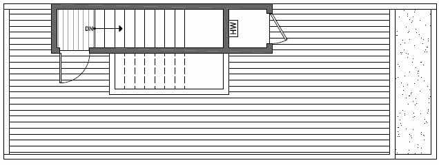 Roof Deck Floor Plan of 1640E 20th Avenue in Avani Townhomes Located in Capitol Hill Seattle
