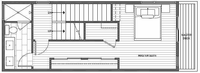 Third Floor Plan of 1640E 20th Avenue in Avani Townhomes Located in Central District Seattle
