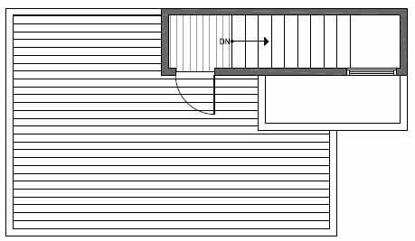 Roof Deck Floor Plan of 1646 20th Avenue in Avani Townhomes Located in Capitol Hill Seattle