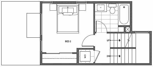 Fourth Floor Plan of 1648 20th Avenue in Avani Townhomes Located in Capitol Hill Seattle