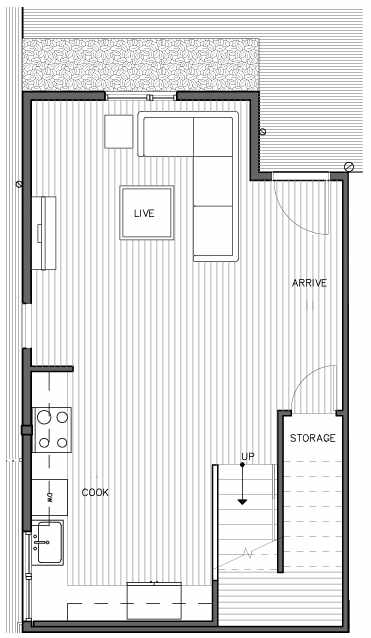 First Floor Plan of the Nidelva Floor Plan at The Trondheim in Crown Hill