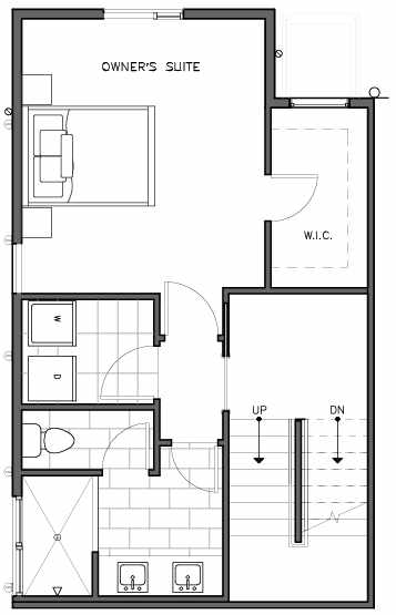 Second Floor Plan of the Nidelva Floor Plan at The Trondheim in Crown Hill