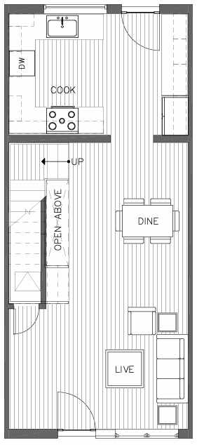 First Floor Plan of the Bristlecone Floor Plan at The Pines at Northgate