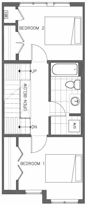 Second Floor Plan of the Bristlecone Floor Plan at The Pines at Northgate