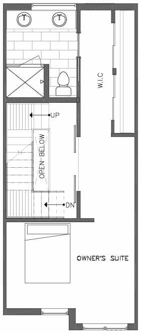 Third Floor Plan of the Bristlecone Floor Plan at The Pines at Northgate