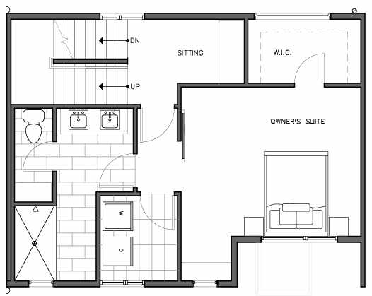 Second Floor Plan of the Lian Floor Plan at The Trondheim in Crown Hill
