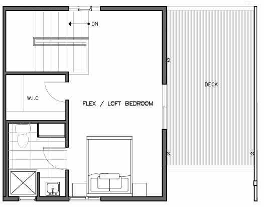 Third Floor Plan of the Lian Floor Plan at The Trondheim in Crown Hill
