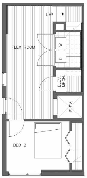 First Floor Plan of the Cedar Floor Plan at The Pines at Northgate
