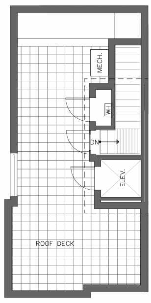 Roof Deck Floor Plan of the Cedar Floor Plan at The Pines at Northgate